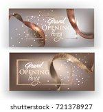 elegant grand opening beige... | Shutterstock .eps vector #721378927