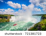 niagara falls in canada | Shutterstock . vector #721381723