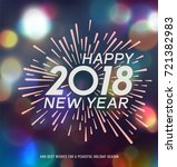 new year greeting card | Shutterstock .eps vector #721382983