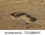 footprints in the sand | Shutterstock . vector #721388047