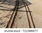 footprints in the sand | Shutterstock . vector #721388677