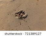 footprints in the sand | Shutterstock . vector #721389127