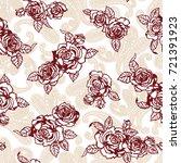 rose illustration pattern | Shutterstock .eps vector #721391923