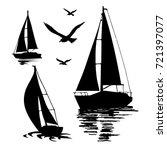 water sport. sea yachts.... | Shutterstock .eps vector #721397077