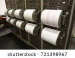 seismograph records an... | Shutterstock . vector #721398967