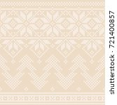 winter holiday seamless knitted ... | Shutterstock .eps vector #721400857
