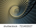 upside view of a spiral... | Shutterstock . vector #721402027
