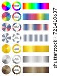 set of bright universal... | Shutterstock .eps vector #721410637
