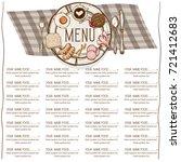 menu restaurant template design ... | Shutterstock .eps vector #721412683