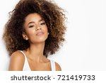 beautiful black female model  | Shutterstock . vector #721419733