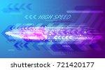 high speed concept. bullet in... | Shutterstock .eps vector #721420177