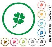 four leaf clover flat color... | Shutterstock .eps vector #721423417