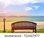 bench sea sky | Shutterstock . vector #721427977