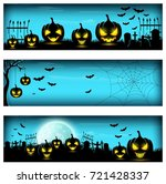 happy halloween banner | Shutterstock . vector #721428337