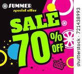 summer sale template banner ... | Shutterstock .eps vector #721438993