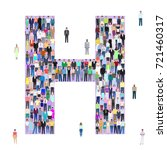letter h  group of people ... | Shutterstock .eps vector #721460317