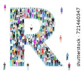 letter r  group of people ... | Shutterstock .eps vector #721460347