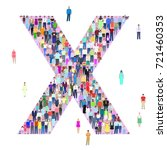 letter x  group of people ... | Shutterstock .eps vector #721460353