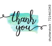 thank you lettering  vector... | Shutterstock .eps vector #721461343