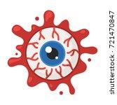 horror symbol eyeball in the... | Shutterstock .eps vector #721470847