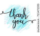 thank you lettering  vector... | Shutterstock .eps vector #721472353