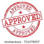 approved stamp | Shutterstock .eps vector #721478557