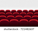 red vector seats. cinema  movie ... | Shutterstock .eps vector #721482637
