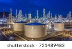 oil storage tank with oil... | Shutterstock . vector #721489483