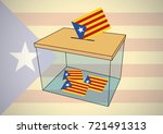 ballot box used for catalonia... | Shutterstock .eps vector #721491313