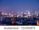 abstract urban night light... | Shutterstock . vector #721492873