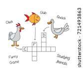 funny animals crossword for... | Shutterstock .eps vector #721493863