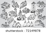set of buildings   Shutterstock .eps vector #72149878