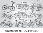 set of bicycles | Shutterstock .eps vector #72149881