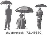 people with umbrella   Shutterstock .eps vector #72149890
