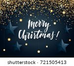 christmas vector design with... | Shutterstock .eps vector #721505413