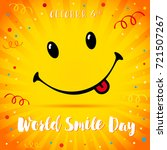 smile with tongue and lettering ... | Shutterstock .eps vector #721507267