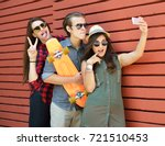 young people in sun glasses... | Shutterstock . vector #721510453