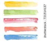 watercolor brush strokes set ... | Shutterstock . vector #721514137