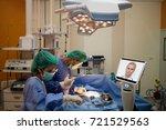 doctor surgery patient in... | Shutterstock . vector #721529563