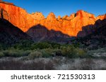 dawn at towers of the virgin ... | Shutterstock . vector #721530313