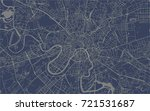 vector map of the city of... | Shutterstock .eps vector #721531687