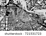 vector map of the city of... | Shutterstock .eps vector #721531723
