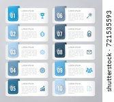 infographic template blue 10... | Shutterstock .eps vector #721535593