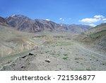beautiful remote tajik national ... | Shutterstock . vector #721536877