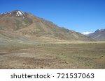 beautiful remote tajik national ... | Shutterstock . vector #721537063