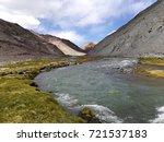 beautiful remote tajik national ... | Shutterstock . vector #721537183