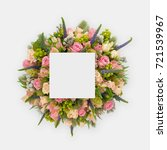 creative layout made of flowers ... | Shutterstock . vector #721539967