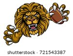 a lion angry animal sports... | Shutterstock .eps vector #721543387