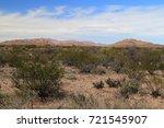 scenic desert landscape in big... | Shutterstock . vector #721545907