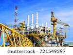 offshore construction platform... | Shutterstock . vector #721549297
